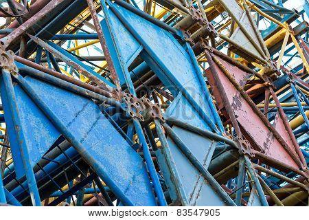Old Crane Steel Frames