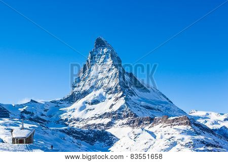 View Of Matterhorn And The Riffelberg Chapel Chapel