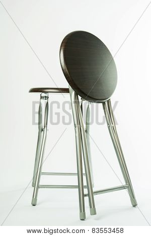 Wooden Folding Chair Isolated