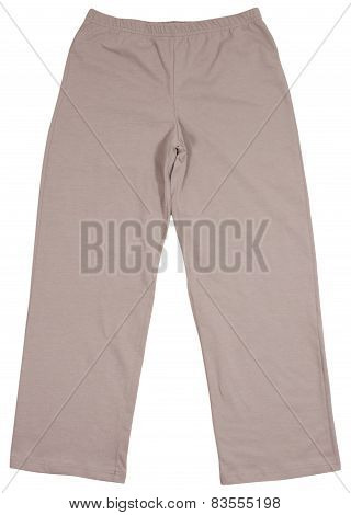 Sports sweatpants isolated on white background