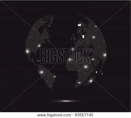 Abstract Glow World Map