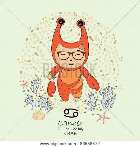 Zodiac sign - Cancer.