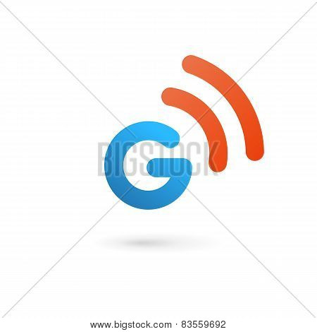 Letter G Wireless Logo Icon Design Template Elements