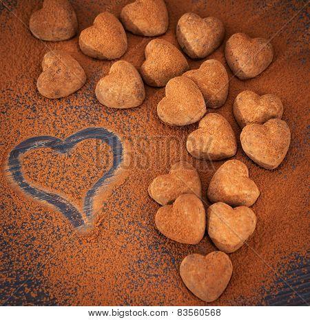 Heart Shaped Chocolate Truffles