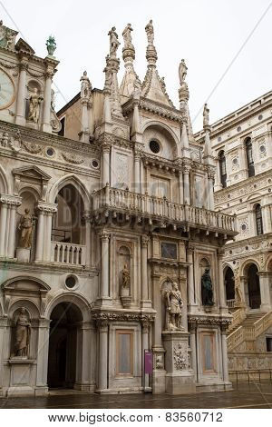 Doges palace  courtyard building, Venice