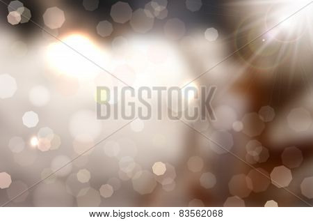 Abstract Shiny Background With Bokeh