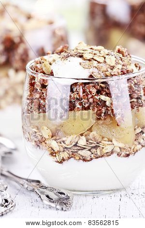 Delicious Red Quinoa Parfait