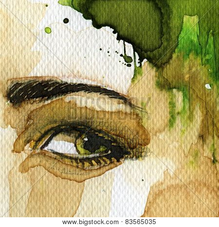 eye watercolor