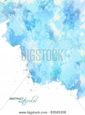 Vector abstract blue watercolor background