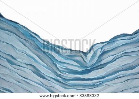 Corner Blue Aqua Water Wavy Fabric Textured Background