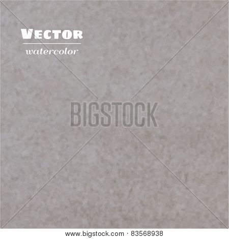 Vector Gray Brown Watercolor Background