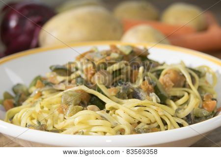 Tagliolini At The Vegetable Ragout