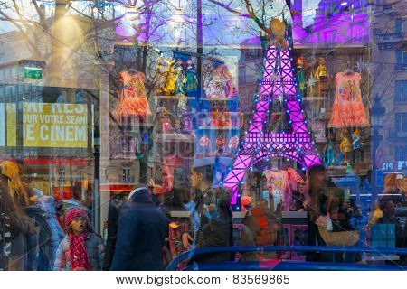 Showcase children's store in Paris, France