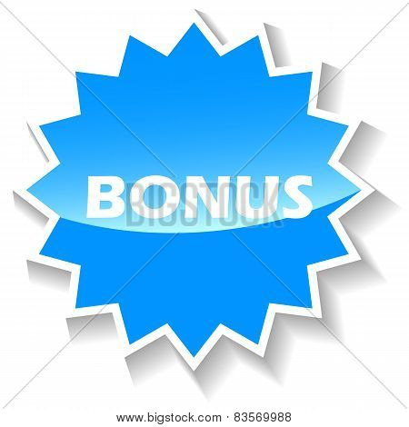Bonus blue icon