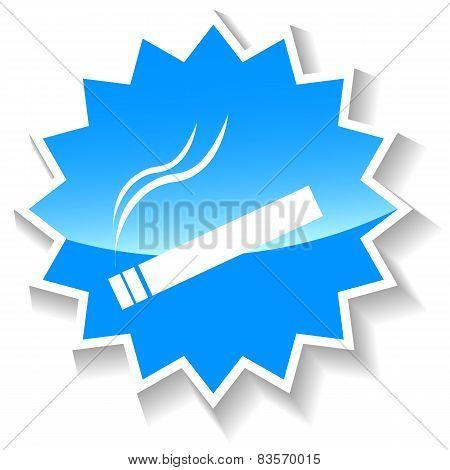 Cigarette blue icon