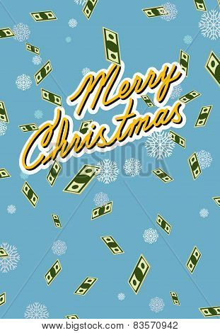 marry christmas. Wealth. Falling money.