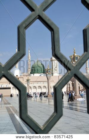 Iron Railings Behind The Nabawi Mosque, Medina, Saudi Arabia