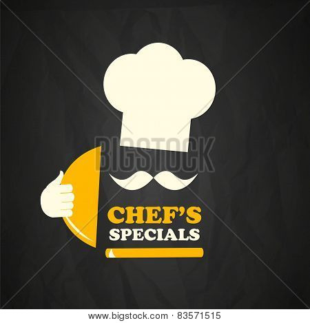Cook chef vector background