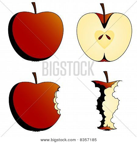 four states of apples