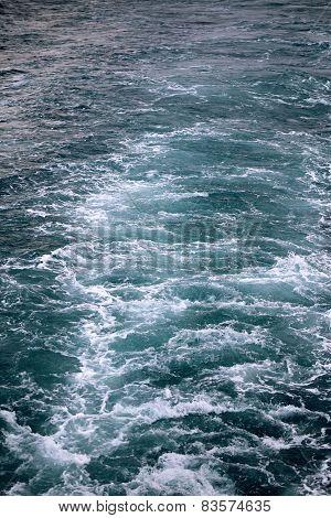 Seething Beautiful Sea Water