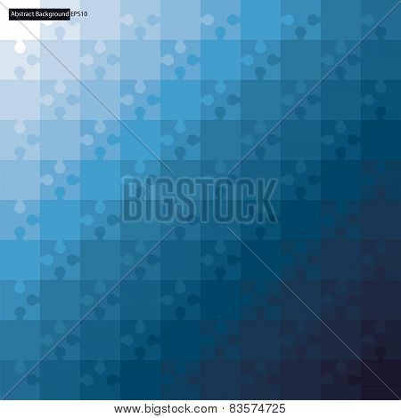Printabstract background jigsaw puzzle with blue color gradient background.