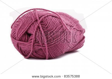 The Woolen Colors Purple On The White Background
