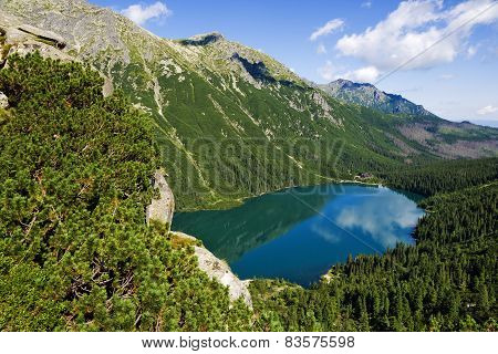 Beautiful Glacial Lakes In Polish Tatra Mountains