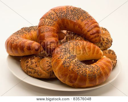 Wholemeal Buns And Croissants