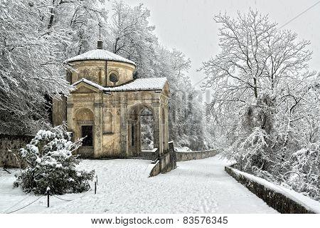 Mountain Path In Winter Season