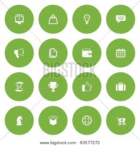 Flat Icon Set For Web And Mobile. Business And Finance Icons