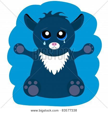 Alien Monster Cat - Stock Vector