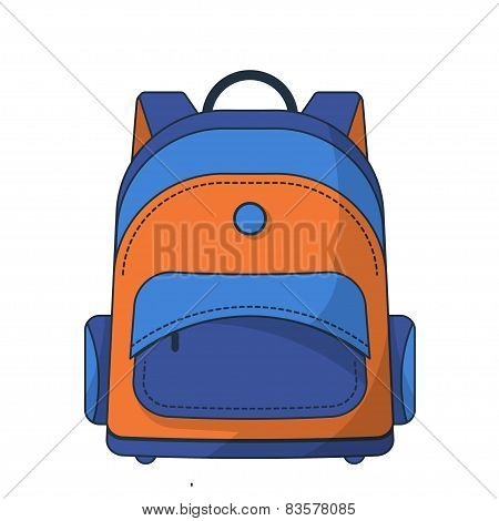 Colorful school bag