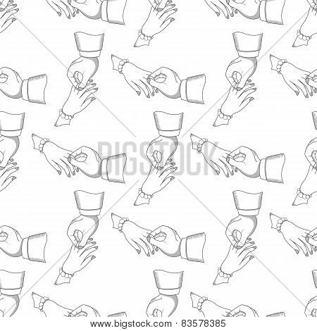 Seamless Pattern Men And Women Hands
