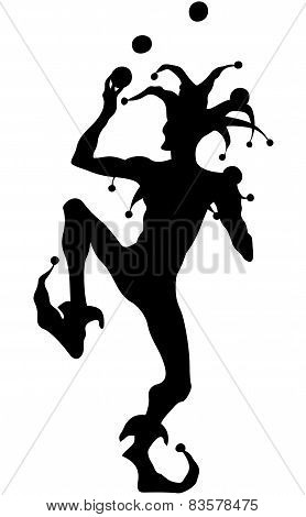 silhouette clown