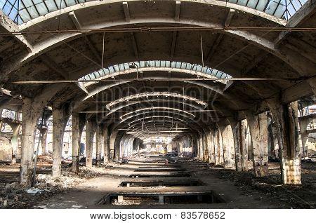 Old abandoned railway plant