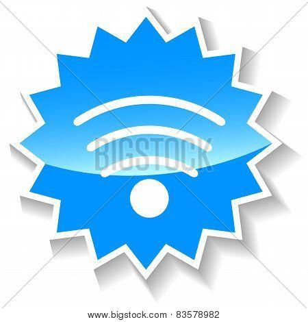 Wifi blue icon
