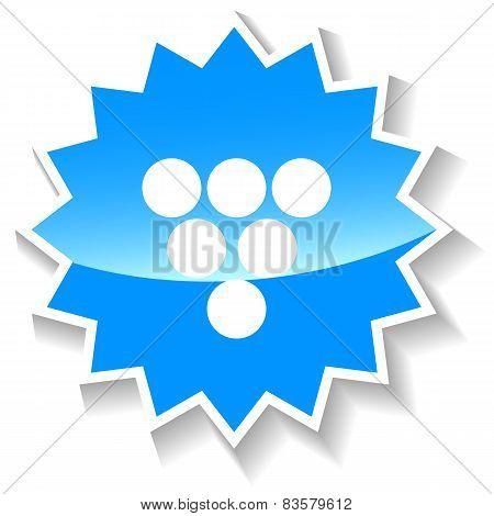 Billiards blue icon