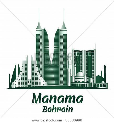 City of Manama Bahrain Famous Buildings