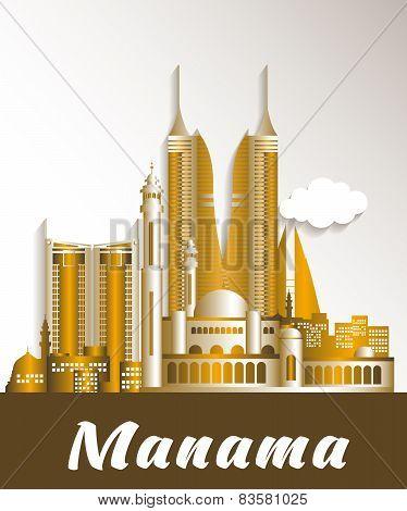 City of Manama Bahrain Famous Buildings