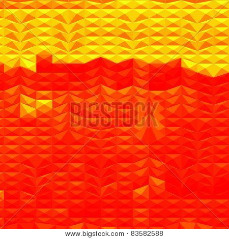 Red Drought Abstract Low Polygon Background
