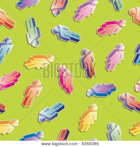 Seamless Men And Women Pattern