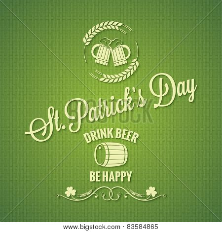 Patrick day beer design background