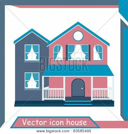 Vector Icon Minimalistic Modern Home