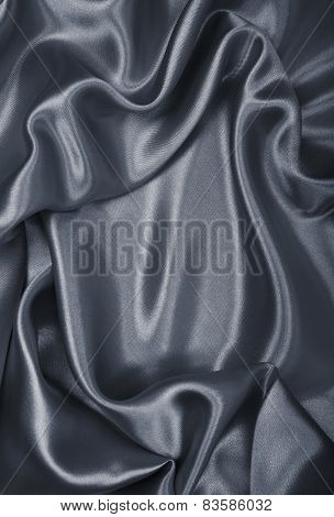 Smooth Elegant Grey Silk As Background
