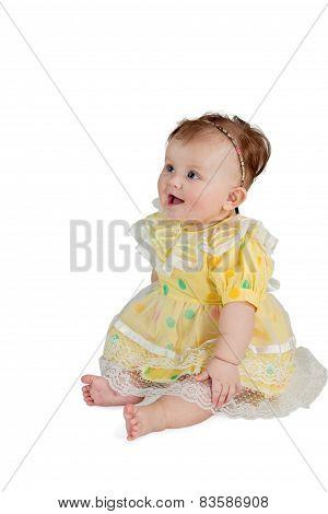 Sitting baby girl