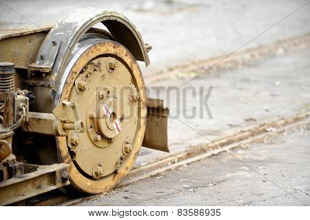 Old And Rusty Tram Wheels