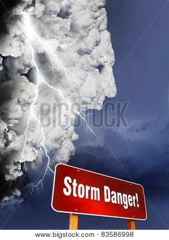 Storm Danger Concept