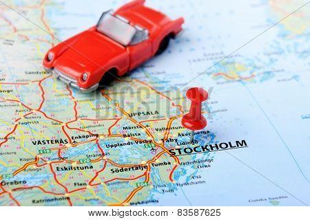 Stockholm ,sweden Map Auto