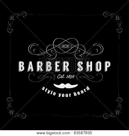 Vintage Barber Shop Badg