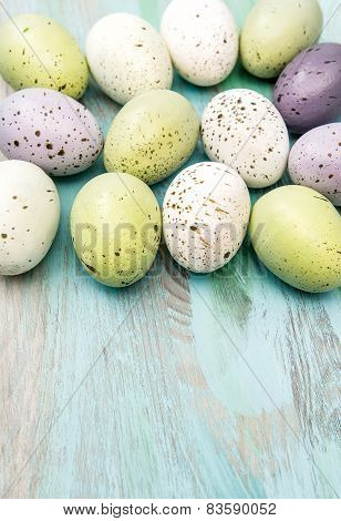 Colored Easter Eggs. Retro Style Decoration